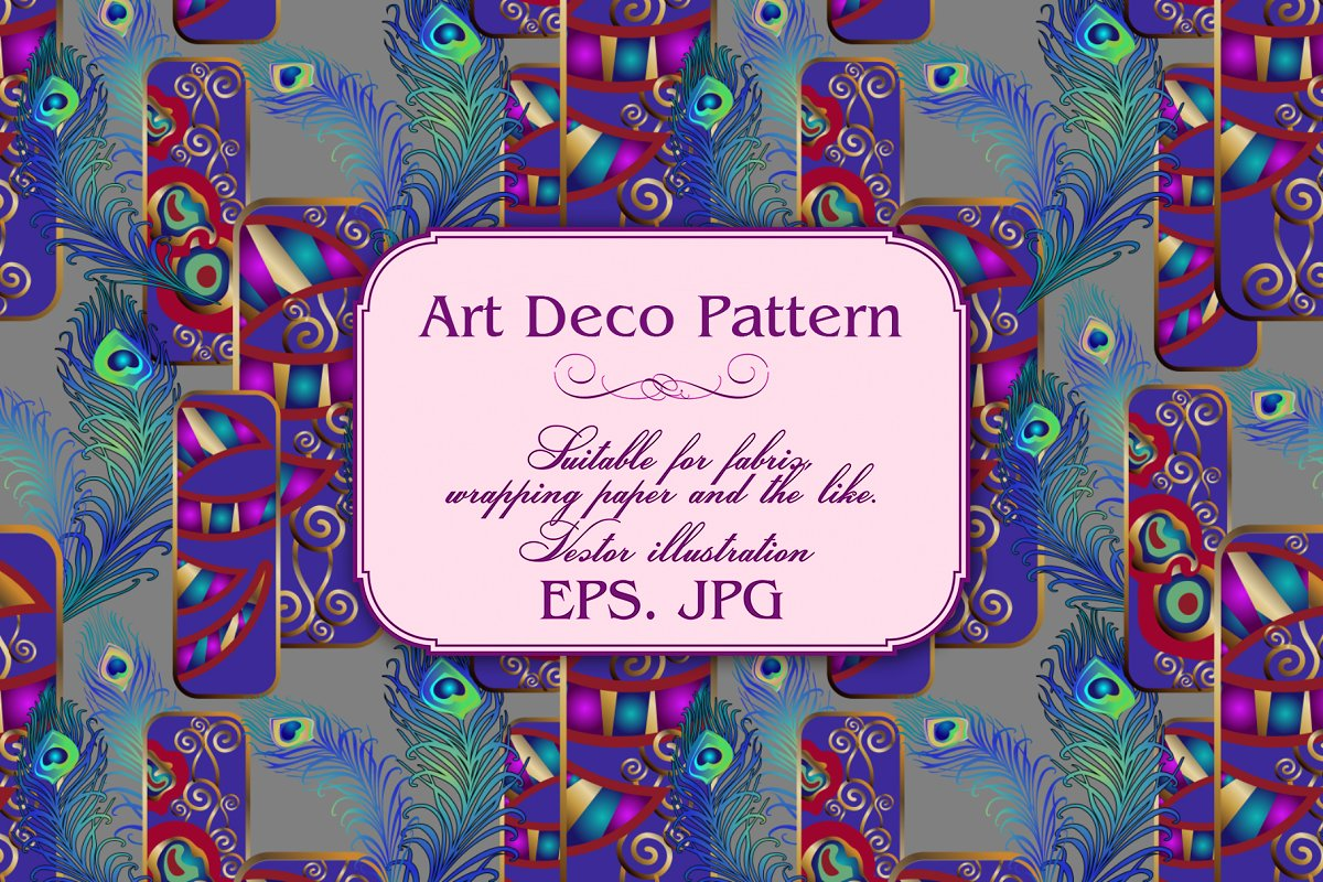 Art Deco Pattern in Patterns - product preview 7