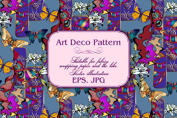 Art Deco Pattern in Patterns - product preview 8