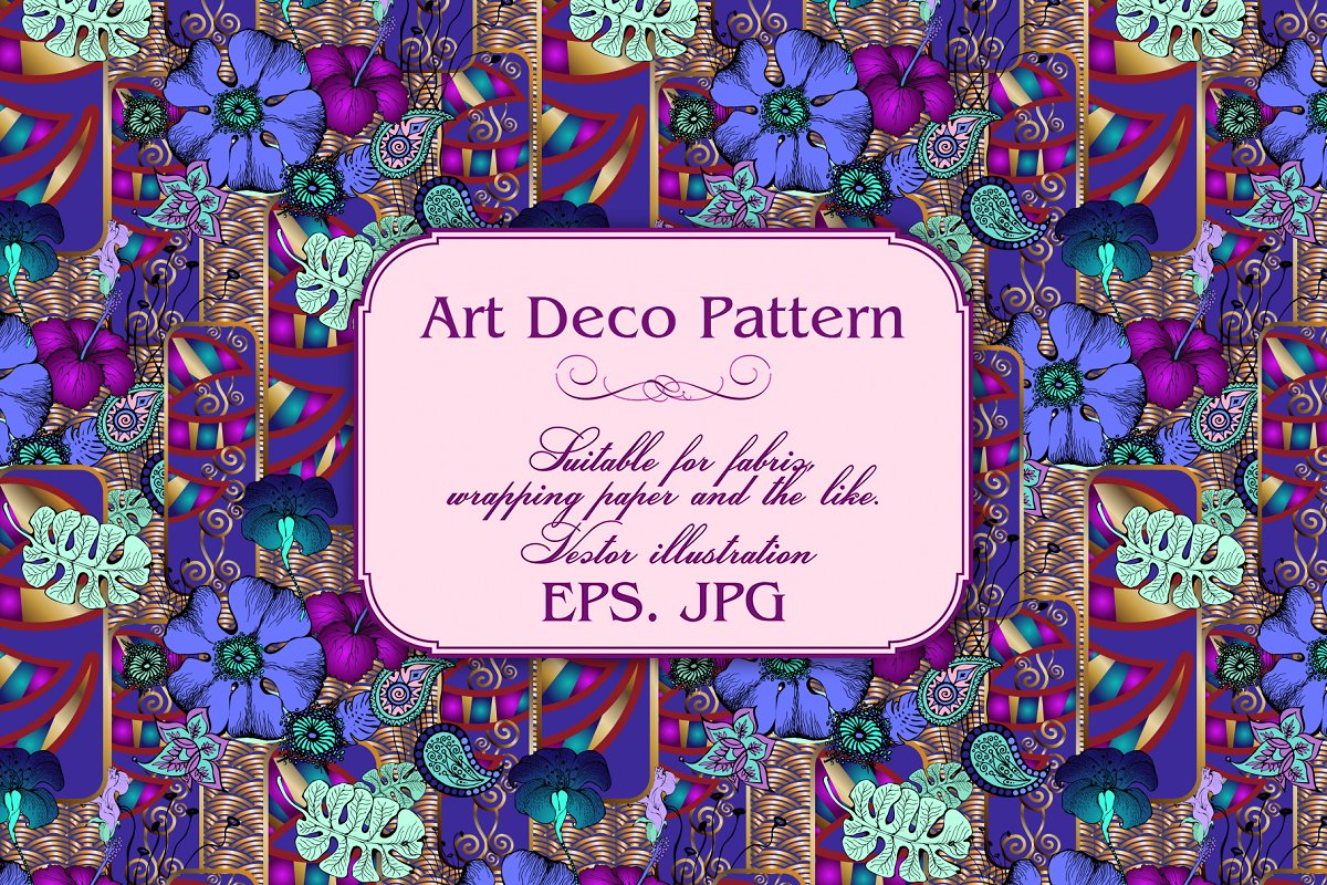 Art Deco Pattern in Patterns - product preview 9