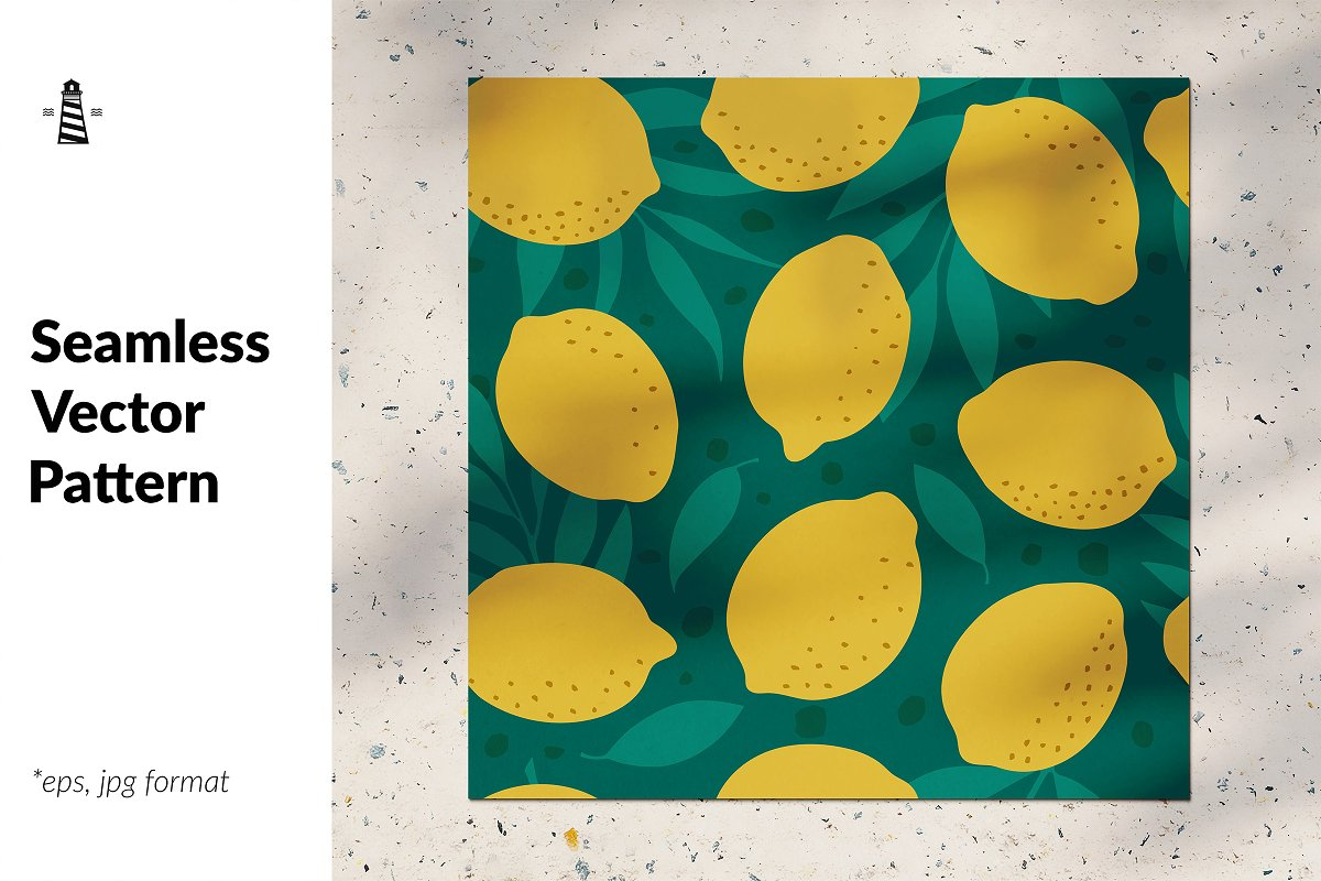 Lemon seamless pattern in Patterns