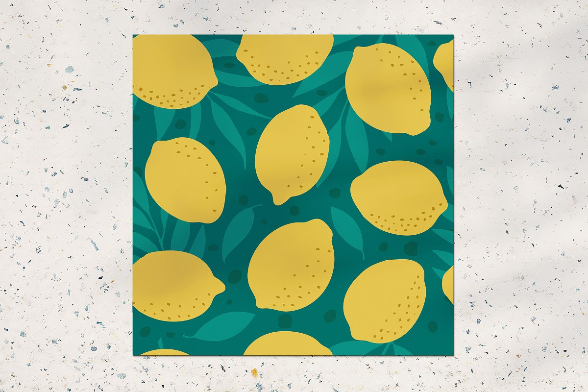 Lemon seamless pattern in Patterns - product preview 1