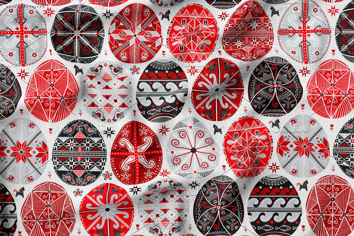 Pysanky. Decorated Easter eggs in Patterns - product preview 5