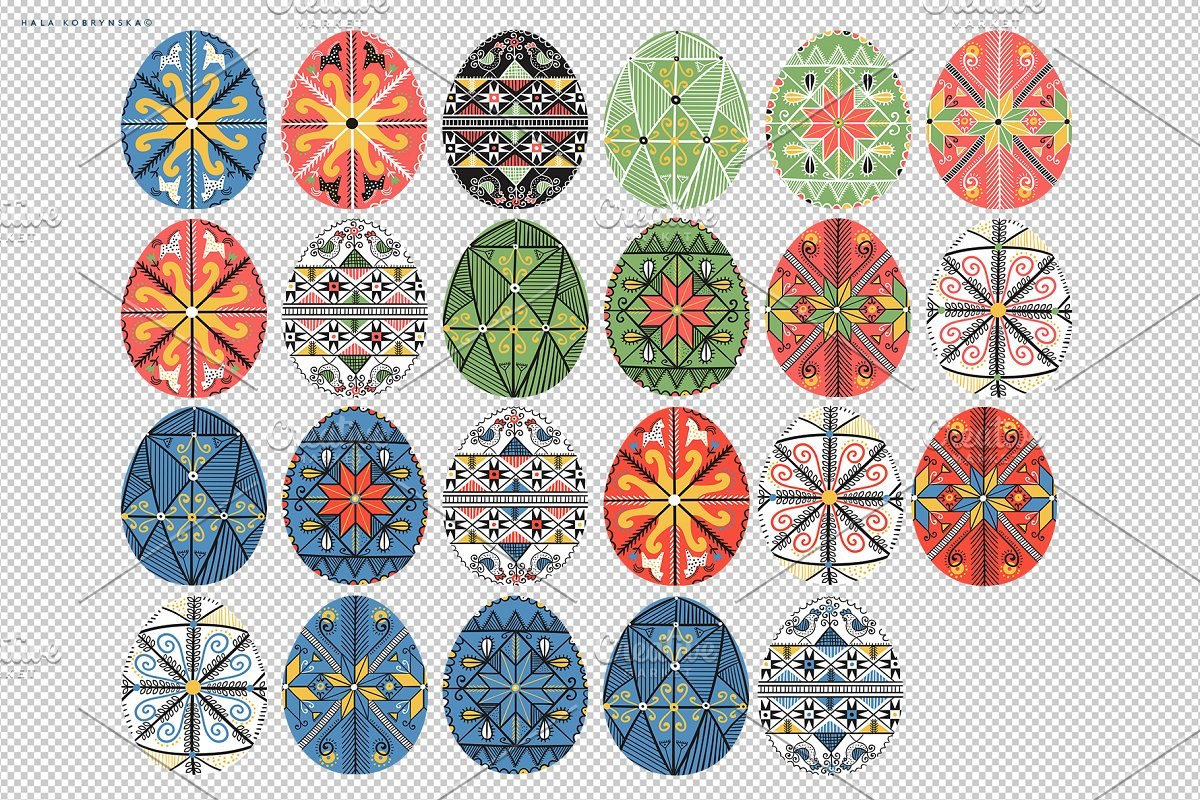 Pysanky. Decorated Easter eggs in Patterns - product preview 7