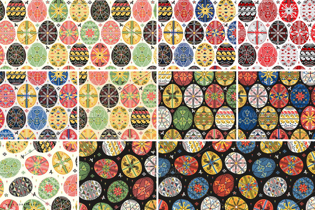 Pysanky. Decorated Easter eggs in Patterns - product preview 6