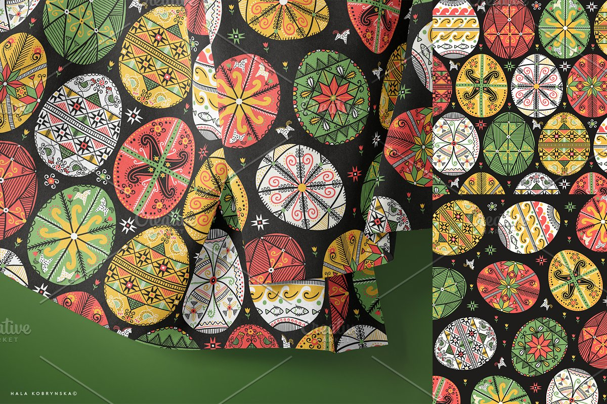 Pysanky. Decorated Easter eggs in Patterns - product preview 3