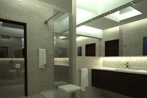 3ds max render of luxury toilet