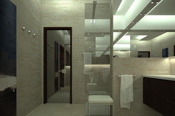 3ds max render of luxury toilet