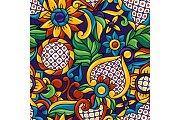 Mexican talavera seamless pattern