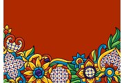 Background with mexican talavera