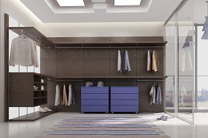 3ds max render of dressing room