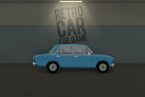 Retro car for game