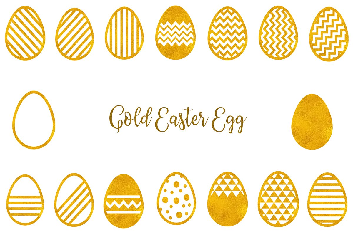Gold Easter Egg Clipart