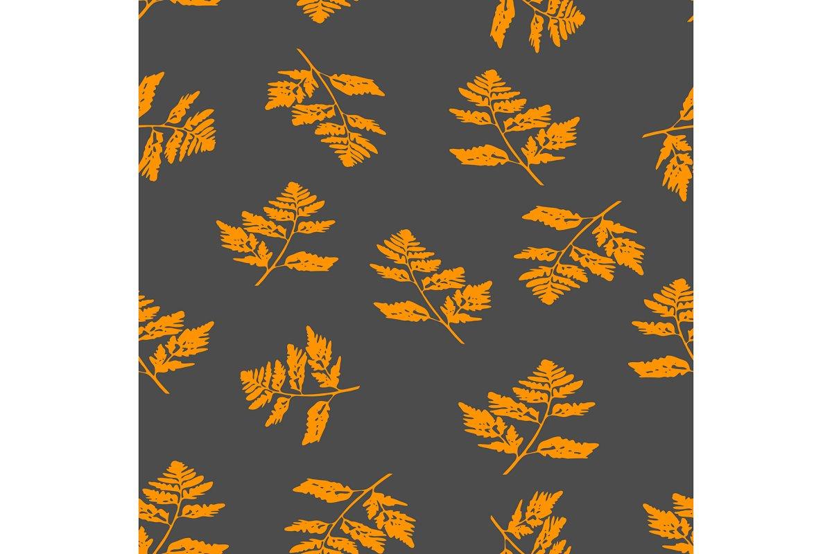 Seamless pattern fall leaves