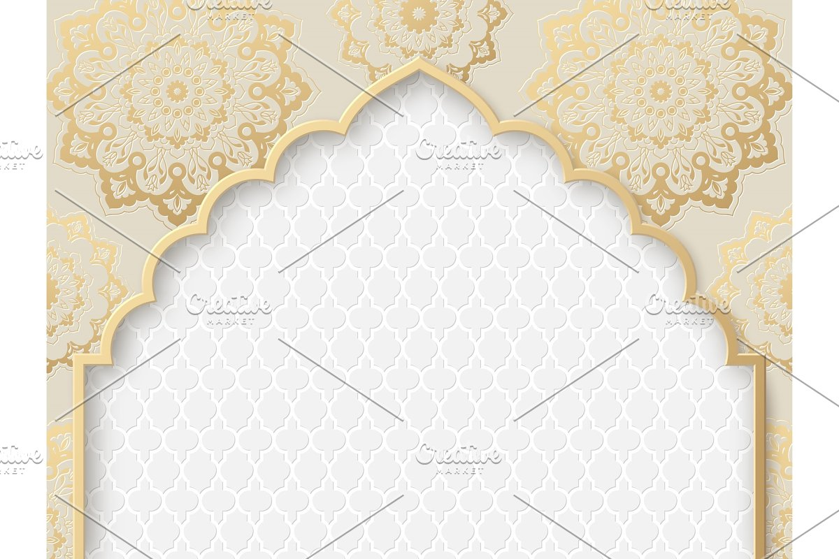 Vector ornate frame with indian