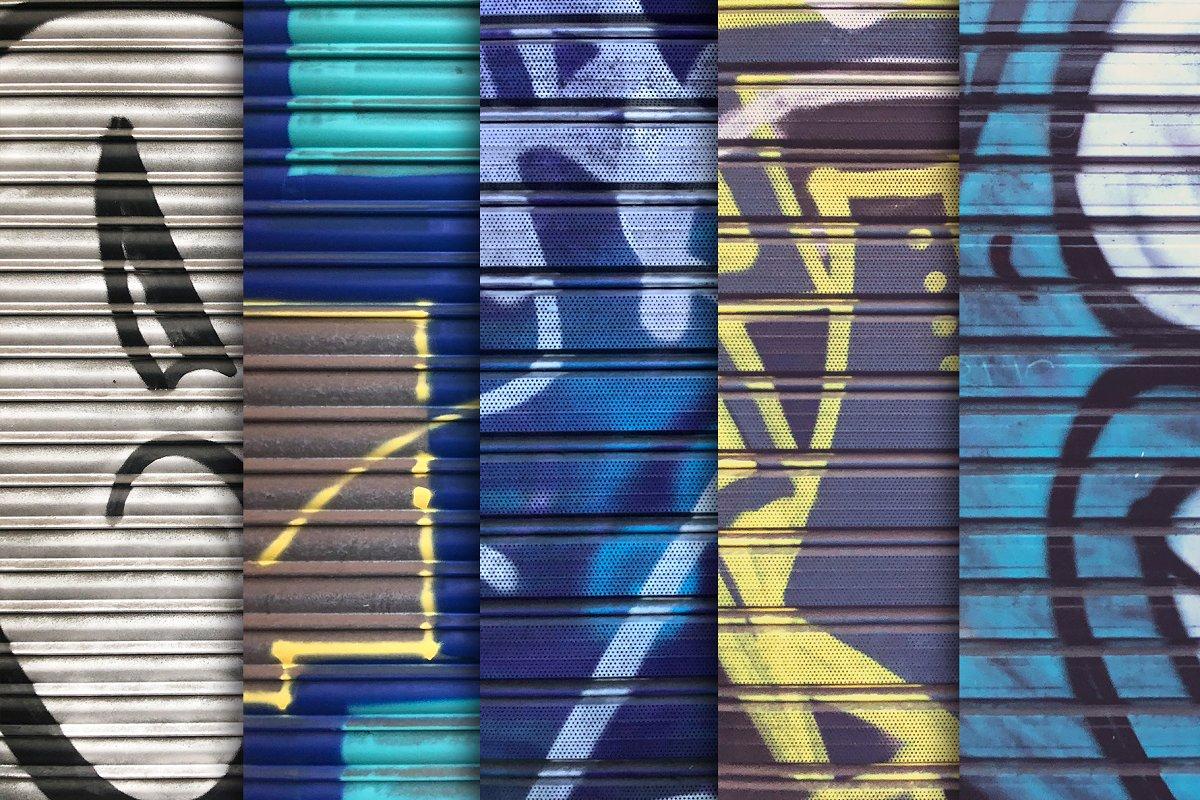 Garage Door Grafitti Textures x10 in Textures - product preview 1