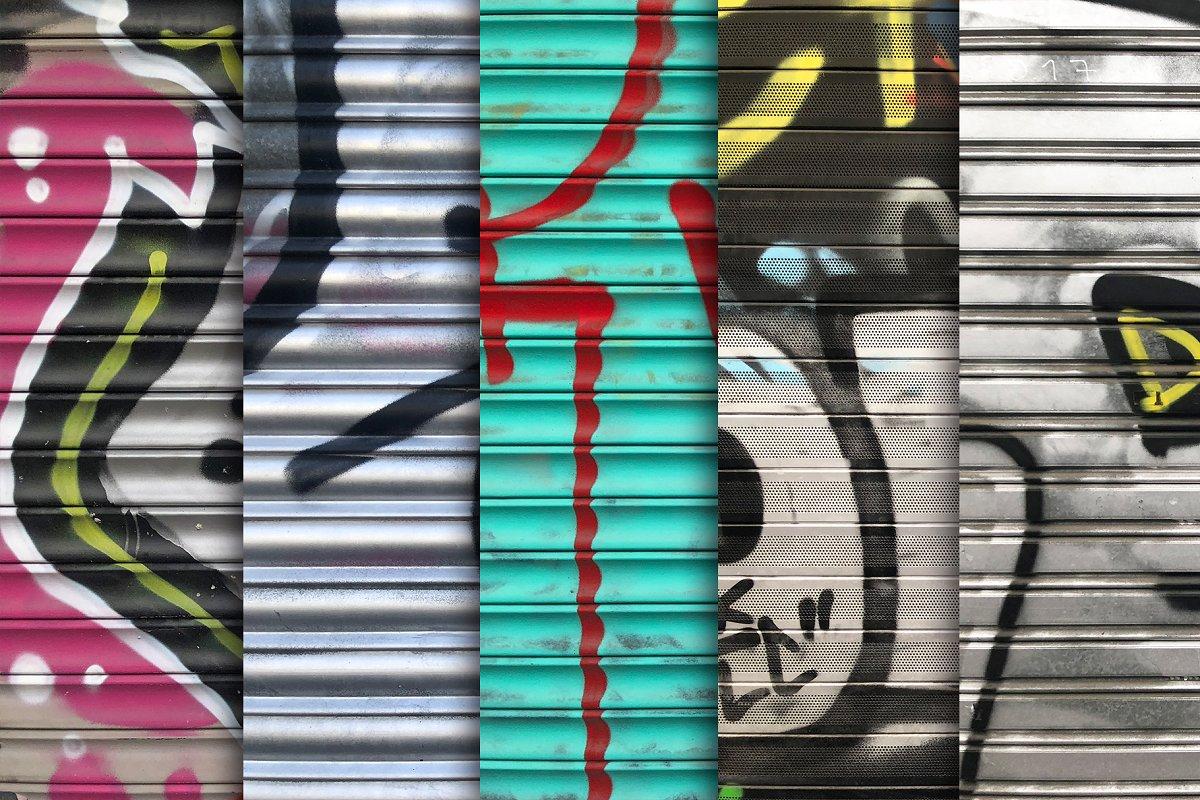 Garage Door Grafitti Textures x10 in Textures - product preview 2