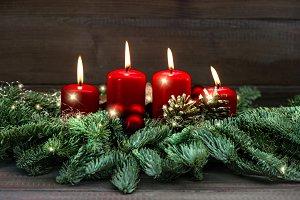 Advent decoration four candles