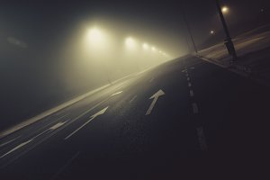 Fog and Road