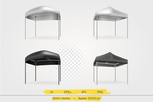 Four canopies vector illustration