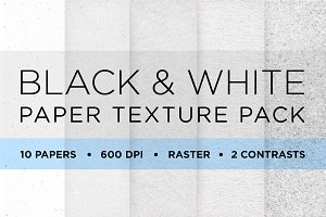 10 Black & White Paper Texture Pack