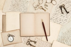 Antique writing accessories