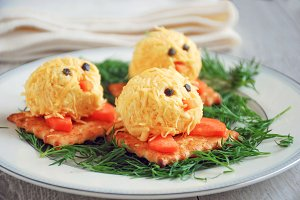 Funny cheese appetizer for kids