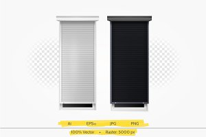 Roller shutters vector illustration