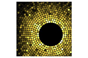 Geometric pattern of gold circles or