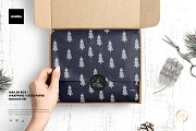 Mailer Box Tissue Paper Mockup Set