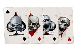Cards with Skulls