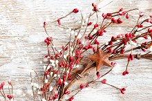 Christmas wreath, narrow image