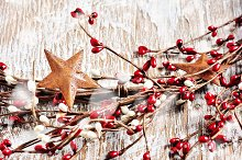 Christmas wreath, square image