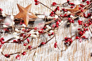 Christmas wreath, square image