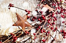 Christmas wreath, narrow format