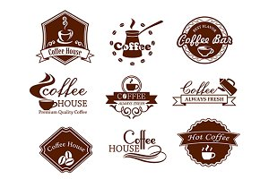 Coffee posters and banners set