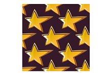 Golden shooting star seamless patter