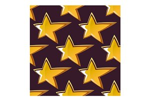 Golden shooting star seamless patter