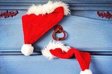 Santa's hat & vintage dresser
