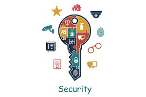 Security icon concept