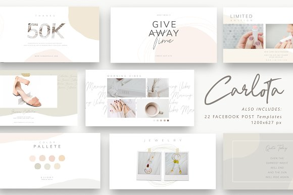 PS & CANVA Carlota - Social Media in Instagram Templates - product preview 12