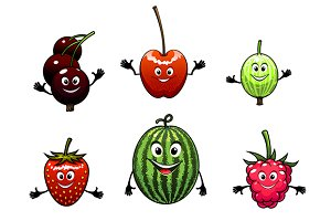 Happy friendly fruit