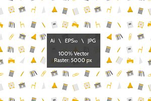 School supplies vector background