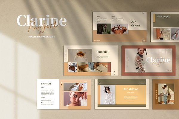 Clarine - Powerpoint template