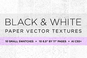 20 Black&White Paper Vector Textures
