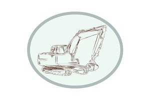 Mechanical Digger Excavator Oval Etc