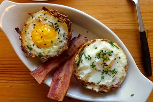 Hash Brown Egg Baskets