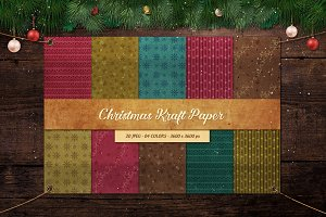20 Christmas Kraft Papers