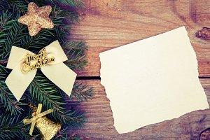 Christmas border mockup