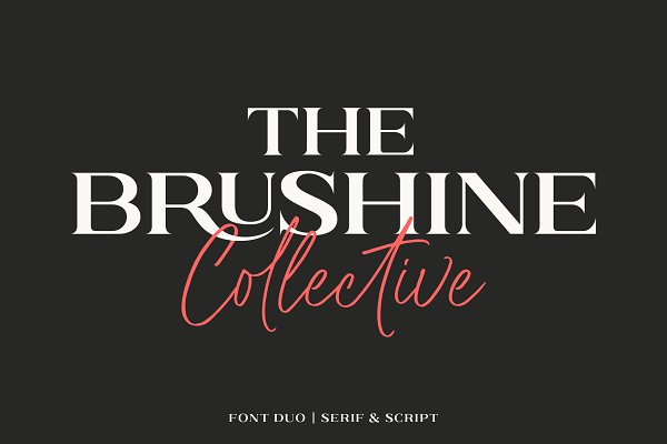 Brushine Collective - Font Duo