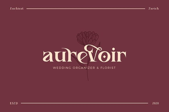 Ancient Zurich - Elegant Serif Logo in Display Fonts - product preview 1